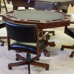 Winslow Game Table Set with 4 Winslow Rocker Chairs