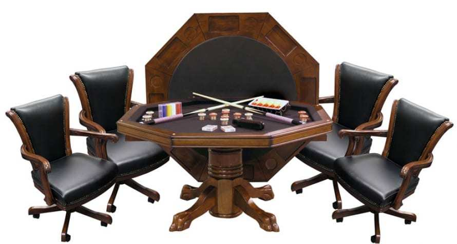 3-in-1 Combo Table with 4 Winslow Chairs