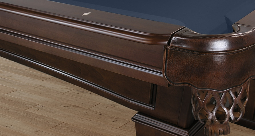 Adrian pool table with leather pockets