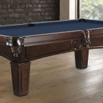 Adrian Pool table with pedestal legs