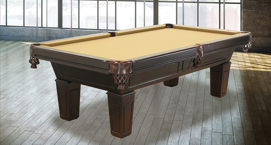 Duke pool table with pedestal legs