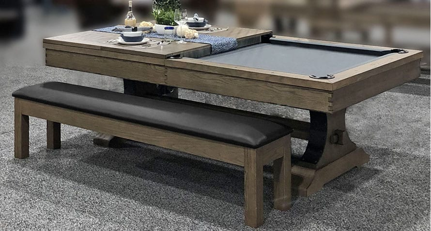 Viking Pool Table with rustic Antique oak finish
