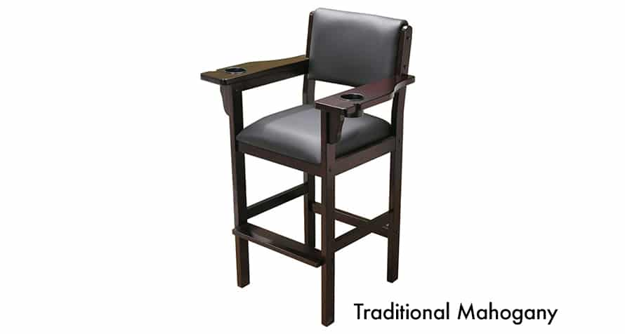 Level Best Spectator chair with dual drink holders in Traditional Mahogany finish