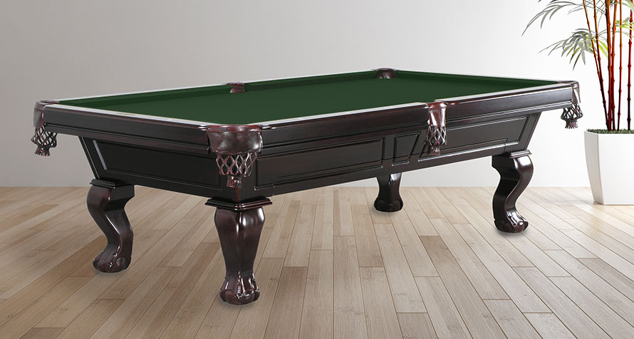 Norwich pool table with hidden billiard accessory drawer