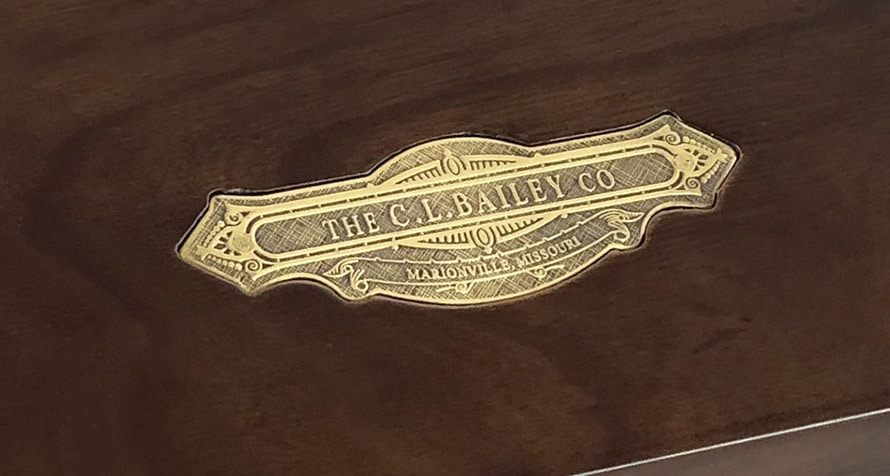 CL Bailey Company nameplate in top rail
