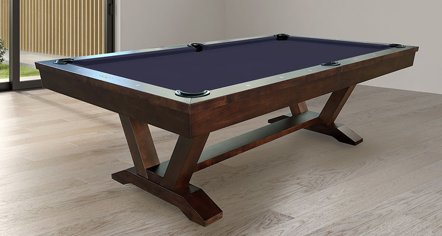 Skylar pool table with optional dining top