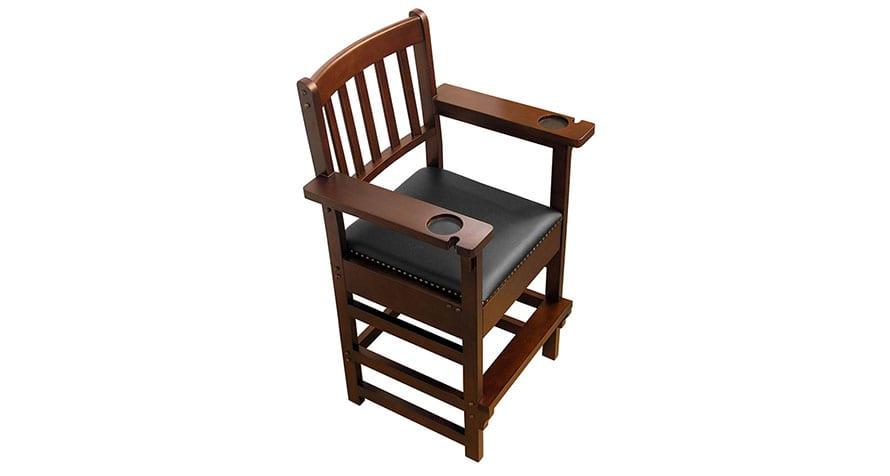 Skylar spectator chair with hidden accessory drawer