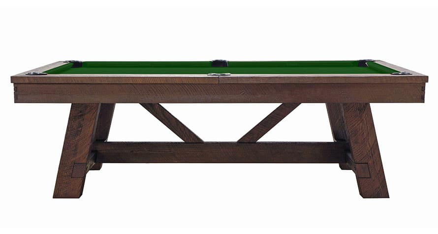 Tunbridge Pool Table side profile